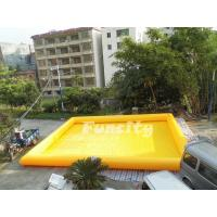 Wholesale Durable Custom Size Inflatable Water Swimming Pool Yellow 1 Years Warranty from china suppliers