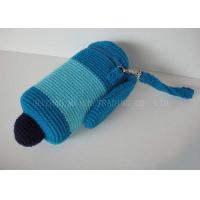Wholesale Sky Blue Removable Crochet Cup Cozy Stainless Chain Knitted Mug Cosy With Hat from china suppliers