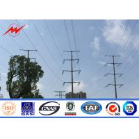 Wholesale AWS D 1.1 230 Kv Telescopic Steel Tubular Electric Power Pole With Cross Arm from china suppliers
