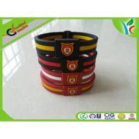 Wholesale Promotion Gifts Silicone Balance Bracelet Double Color M Medal from china suppliers