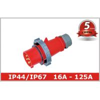 Buy cheap IP67 IP44 125A 63A 32A 16A 3 Phase Pin and Sleeve Plug for Industrial Power 110~400V from wholesalers