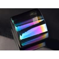 Popular Luxury Iridescent Straight Side Glass Candle Jar For Decor