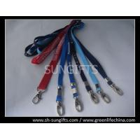 Wholesale Standard polyester staff lanyard with metal oval hook and metal bead from china suppliers