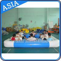 Wholesale PVC Tarpaulin 6 Person Island Inflatable Lounge For Lake River Ocean Water Float from china suppliers