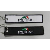 Wholesale Equiline Easy Use Key Chain Luggage Tag Zipper Pull Fabric Embroidery Keychain from china suppliers
