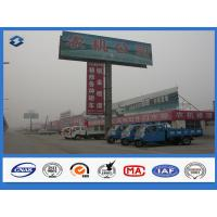 Wholesale Ladder Attached Ad Promotion Billboard galvanized steel pole , Ground mounted road sign post from china suppliers