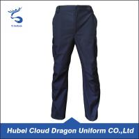 Wholesale Dark Navy Ripstop Security Guard Pants For Men , 65% Polyester 35% Cotton from china suppliers