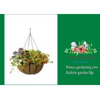 Wholesale Garden Palm Hanging Flower Baskets , Outdoor Hanging Pots For Plants from china suppliers