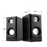 Quality Black Unique Wooden Computer Speakers , Desktop Computer Subwoofer Speakers for sale