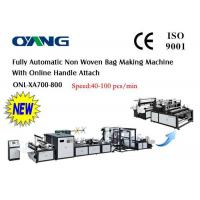 Wholesale High Speed PP Non Woven Bag Making Machine For D - Cut Bag One year Warranty from china suppliers