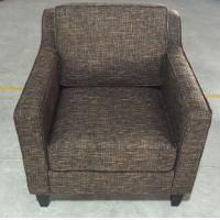 Wholesale Hotel wooden  fabric upholstery lounge chair ,single sofa LC-0017 from china suppliers