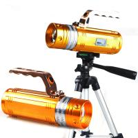 Wholesale Led Display 10W Rotating Zoom Yellow&Blue&White Night Fishing Led Lamp Flashlight/Torch from china suppliers