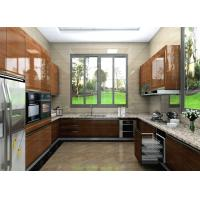Wholesale Custom U Shape High Gloss Lacquer Kitchen Cabinets With Granite Countertop from china suppliers