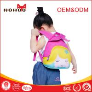 Quality Lovely Ocean Serie Mermaid 3 - 6 Years Old Kids Book Bags For School OEM for sale