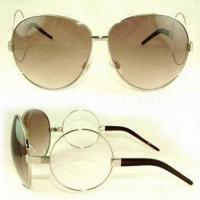 Wholesale Women's Sunglasses, Made of 100% UVA and UVB Protection from china suppliers