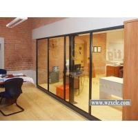 Wholesale 5mm/8mm/10mm/12mm Single Famed Aluminium Glass Modular Office Partitions With Stud Walls from china suppliers