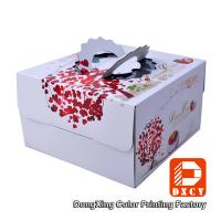 Wholesale Corrugated Paper Decorative Cake Packaging Boxes White With Handle from china suppliers