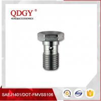 Wholesale STAINLESS STEEL MATERIAL BRAKE HOSE FITTINGS SINGLE BANJO BOLT M10 X 1.25 from china suppliers