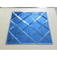 Wholesale Glass Mosaic Decor Spell Mirror diamond glass blue glass background glass from china suppliers