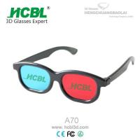 Wholesale Black ABS frame Anaglyph 3D Glasses Red Blue For TV  / Cyan 3D Glasses from china suppliers