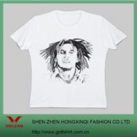 China Plus Size White T Shirt With Sweet Printing on sale