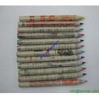 Wholesale paper pencil,newspaper pencil, recycled Hb pencil, eco pencil, green pencil from china suppliers