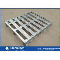 Wholesale Galvanized Standard  Warehouse Steel Pallet 1200 X 1000 With 2 Entry Access from china suppliers