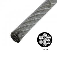 Quality 7x19 Strong Vinyl Coated High Tensile Wire Rope Galvanized For Security Cables for sale