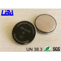 Wholesale 230mAh Lithium Manganese Dioxide Battery , Lithium Ion Battery Cr2032  With Solder from china suppliers