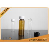Wholesale Essential Oil Packaging 20ml Amber Glass Vials With Screwing Top Specialty Glass Bottles from china suppliers