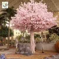 Quality UVG indoor cherry blossom artificial tree with pink flowers for Water World decoration CHR153 for sale