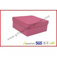 Wholesale Rigid Luxury Pink Gift Boxes Matt Lamination , jewelry gift boxes from china suppliers