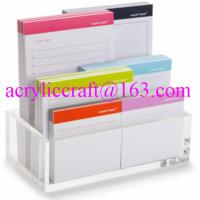 Wholesale Acrylic memo holder tabletop clear plexiglass paper note holder from china suppliers