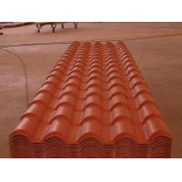 Quality Heat insulation PVC plastic spanish roof tile for villa house/plastic tile making machine for sale