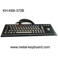 Wholesale PC Industrial Computer Keyboard , Black Metal Keyboard Stainless Steel Panel from china suppliers