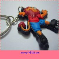 Quality factory supply lion shape PVC key chain samples for sale