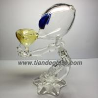 Wholesale Delicate Handmade Borosilicate Glass smoking pipe Glass hammer pipes Glass tobacco p106 from china suppliers