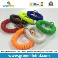Wholesale Elastic Promotional Gift Multicolors Plastic Wrist Coil W/Key Ring from china suppliers