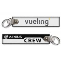 Wholesale Vueling Airbus Crew Keychain Motorcycle Keychain Red Edge Embroidery from china suppliers