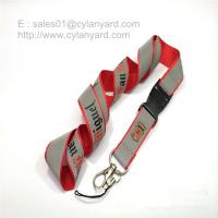 Wholesale Safety reflective lanyard with release buckle visible at night from china suppliers