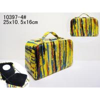 Wholesale Rectangle Yellow Travelling Jewelry Case / Pu Leather Cosmetic Case 25X10.5X16 cm from china suppliers