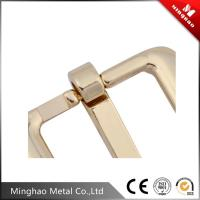 Quality 20.24*16.23mm Zinc alloy metal pin roller buckle,light gold pin buckle for bag for sale
