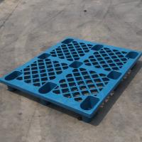 Wholesale Stackable HDPE Industrial Plastic Pallets Single Faced For Chemical Fertilizer from china suppliers