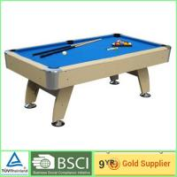Wholesale Antique billiard tables 18mm MDF with 2 pcs plastic wheels / blue billiard cloth from china suppliers
