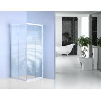 Wholesale Stripe Pattern Glass Bathroom Shower Enclosures 185cm Height  For Hotel from china suppliers
