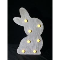 China Bunny night light new products led lighting Wholesale Easter decoration wooden led light box Linhai china suppliers on sale