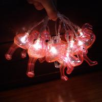 Quality Pink flamingo battery powered decorating led string for sale