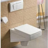 Wholesale Wall Hung Toilet, Made of Ceramic, Available in White from china suppliers