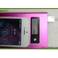 Wholesale Super Thin Digital Display Power Bank , Laser Logo Pocket Power Bank Silver / Blue from china suppliers