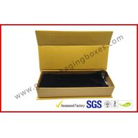 Wholesale ROSH Empty Jewelry Gift Boxes Golden Color With Velvet Bag , Hot Stamp Finishing from china suppliers